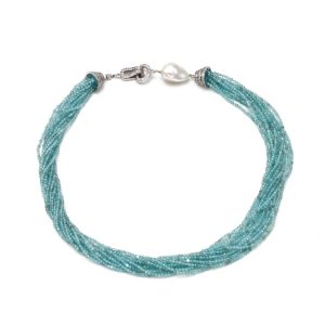 """Edelsteincollier Apatit & Perle – """"Mermaid"""""""