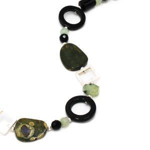 Steinkette Ryolith & Prehnit