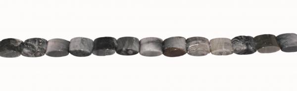 Adlerauge, rechteckig oval, L18 B12 H7mm, Strang 40cm