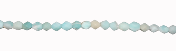 Amazonite, Nuggets fazettiert, L10 D8mm,  40cm Strand