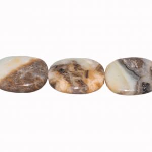 Amazonit, diverse flache Formen, ca. L28 B24 H7mm, Strang 40cm