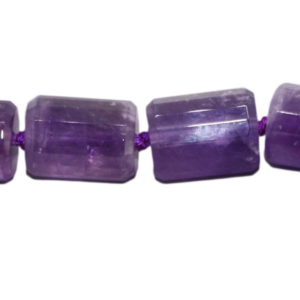 Amethyst, Zylinder, facettiert, L18 B13mm