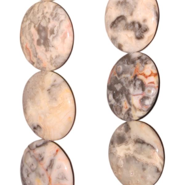 Aprikosen-Achat, Disk, D26 H6mm, Strang 40cm