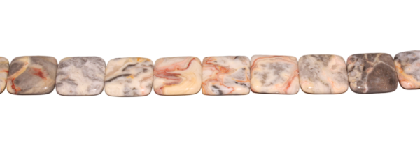 Aprikosen Achat, Quadrat, L26 B26 H6mm