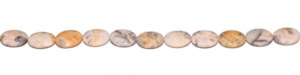 Aprikosen Achat, oval L20 B16 H6mm