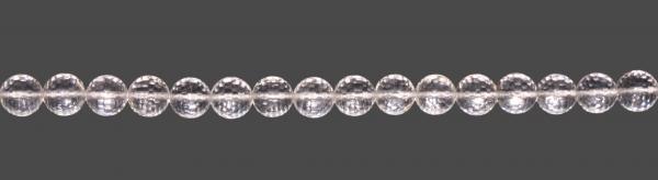 Bergkristall Kugel facettiert D8mm