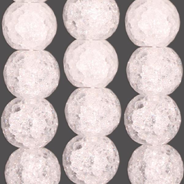 Bergkristall Kugel gecrasht & facettiert D20mm