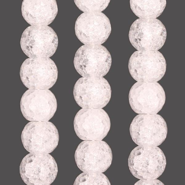 Bergkristall Kugel gecrasht & facettiert D8mm
