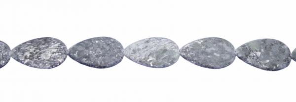 Biotit, matt Tropfenform, flach, L40 B30 H7mm