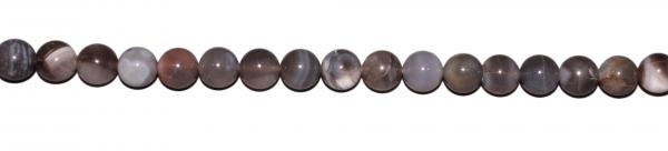 Botswana-Achat, grau, D14mm, Strang 40cm