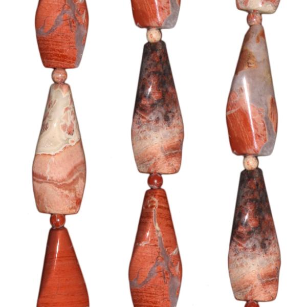 Breckzien Jaspis, Diverse formen ca.L31 B14 H8mm