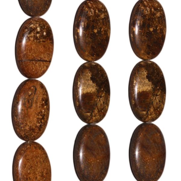 Bronzit, oval L25 B18 H7mm