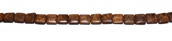 Bronzit, quadratisch, LB13 H6mm, Strang 40cm