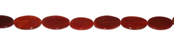 Carneol, oval flach, L33 B22 H4mm