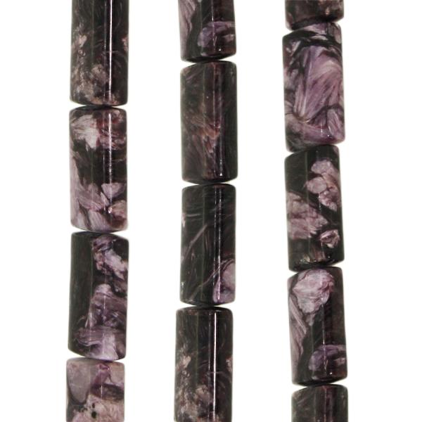 Charoit, rechteckig, flach, L24 B15 H7mm, Strang