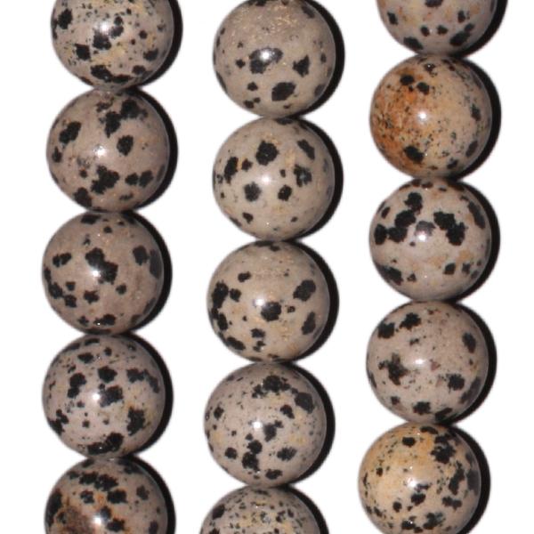 Dalmatiner-Jaspis, D12mm, Strang 40cm