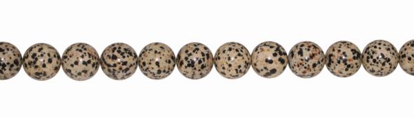 Dalmatiner-Jaspis, D20mm, Strang 40cm
