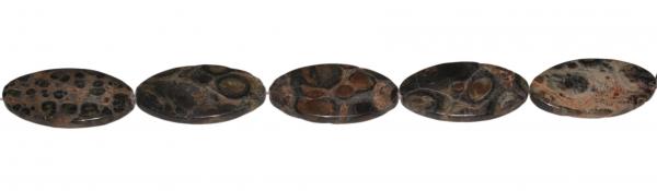 Elderit (Kambaba Jaspis), oval, L40 B20 H6mm