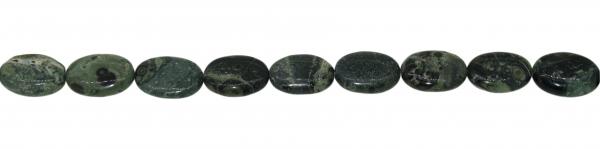 Elderit (Kambaba Jaspis), oval flache, L19 B13 H6mm