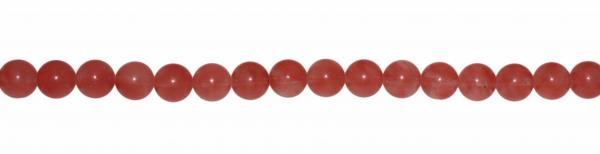 Erdbeerquarz, Kugel D8mm