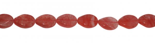 Erdbeerquarz, oval geschwungen L29 B21 H11mm