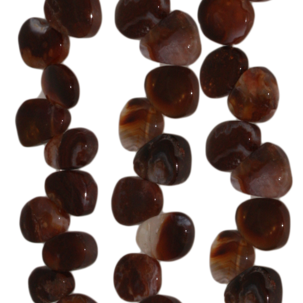 Feuerachat, Tropfenform, flach, zipfelig, ca. B17mm, Strang 40cm
