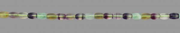 Flourit Regenbogen, Oliven, D8 L12mm, Strang 40cm