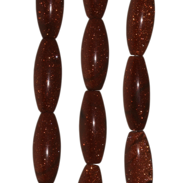 Goldfluss, Oliven, L30 D12mm, Strang 40cm