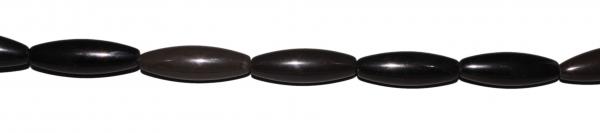 Goldobsidian, lange Oliven, rund, gekantet, L36-40 D12mm, Strang 40cm