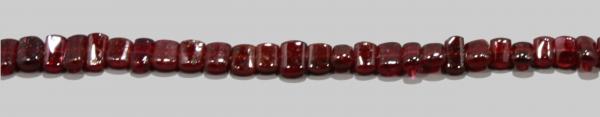Granat, rechteckig, L7 B10 H3mm, Strang 40cm