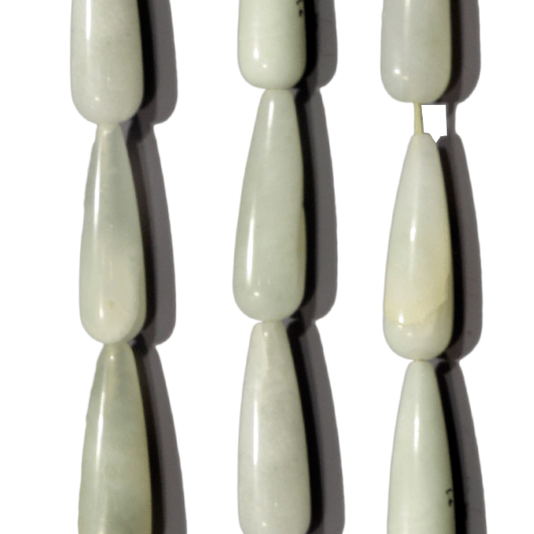 Jade, Tropfen, lang, L30 D9mm