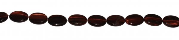 Katzenauge (rotes Tigerauge), oval, L25 B18 H8mm, Strang 40cm