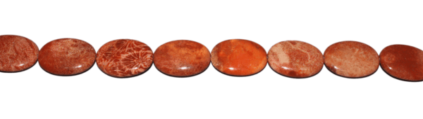 Korallen Jaspis, oval L30 B22, H6 mm