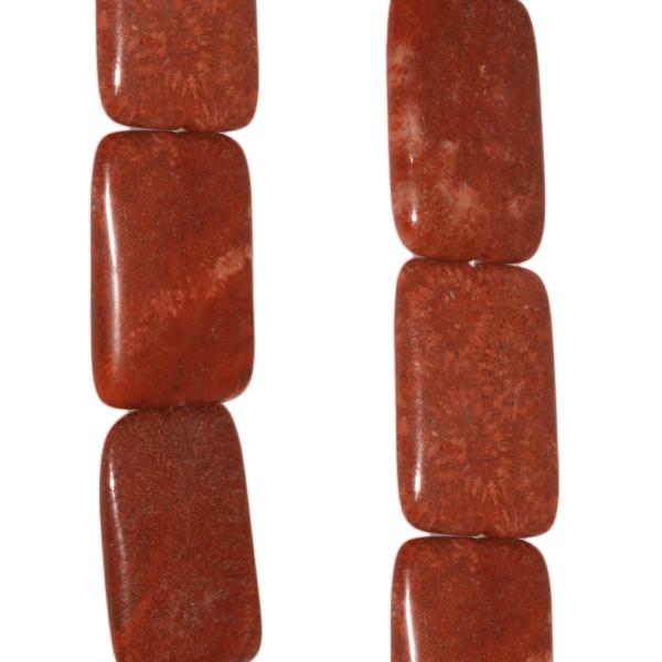 Korallen Jaspis, rechteckig L36 B26 H7mm