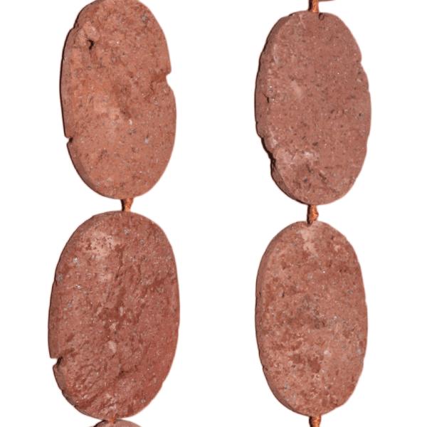 Lava, Braun, oval L40 B27mm