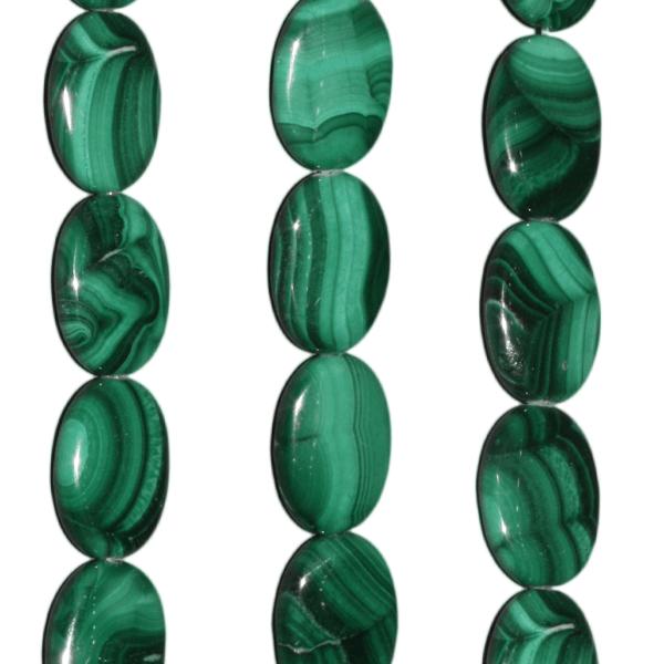 Malachit, oval L16 B12mm