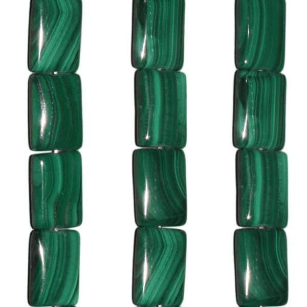 Malachit, rechteckig L14 B10mm
