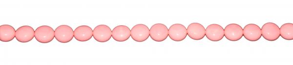 Muschelkernperle, Pink Kugel abgeflacht ca. D14 H10mm