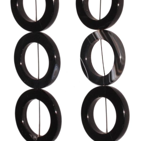 Onyx, Disk, ca. D30-35 H4,5mm, Strang 40cm