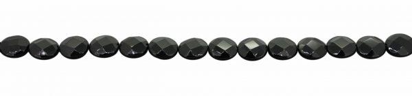 Onyx, flach, diverse Formen, fazettiert, Strang 40cm