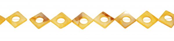 Perlmutt, Rahmenform, diagonal gebohrt D20mm