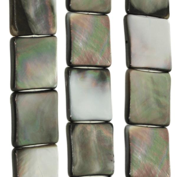 Paua Muschel, quadratisch D20mm