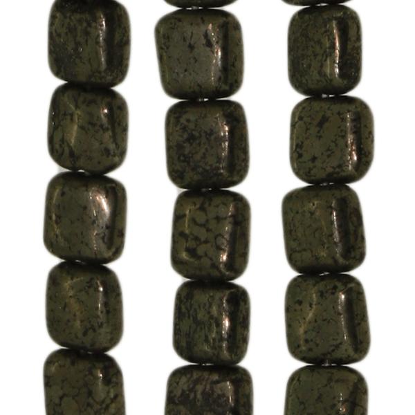 Pyrit, quadratisch, flach, LB6mm