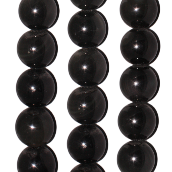 Regenbogen-Obsidian, Kugel, D12mm, Strang 40cm