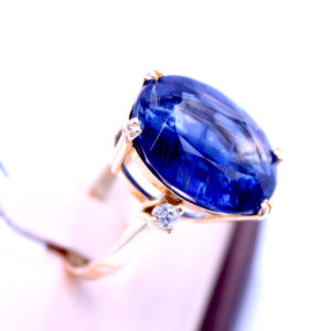 """Ring Kyanit & Diamant """"Kornblumen"""""""