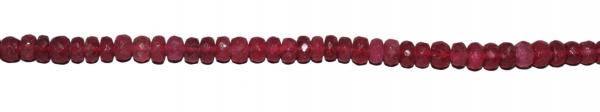 Rubin, glassfilled, Scheibchen, fazettiert, D5mm