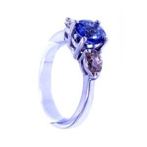 """Ring Saphir & Diamant """"Champagner"""""""