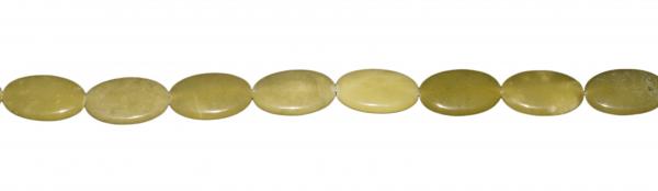 Serpentin (Gelbe Jade), oval ca. L27 B17 H8mm