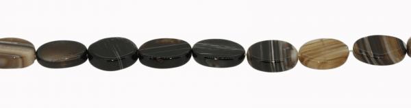 Streifenachat, oval, ca. L31 B25 H6,5mm