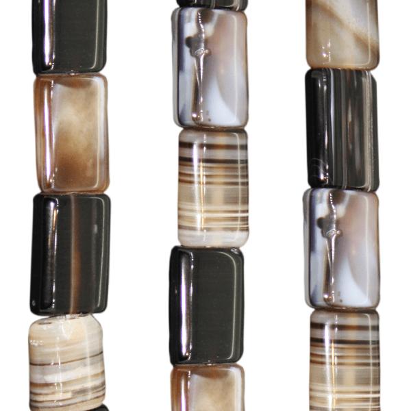 Streifenachat, rechteckig ca. L21 B15 H6mm